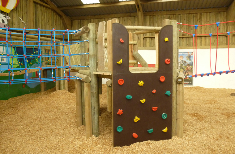 Climbing wall access point