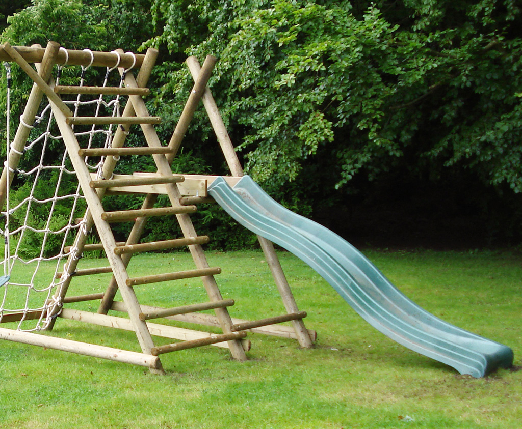 Wooden Slide Frame For The Garden Quality Outdoor Play
