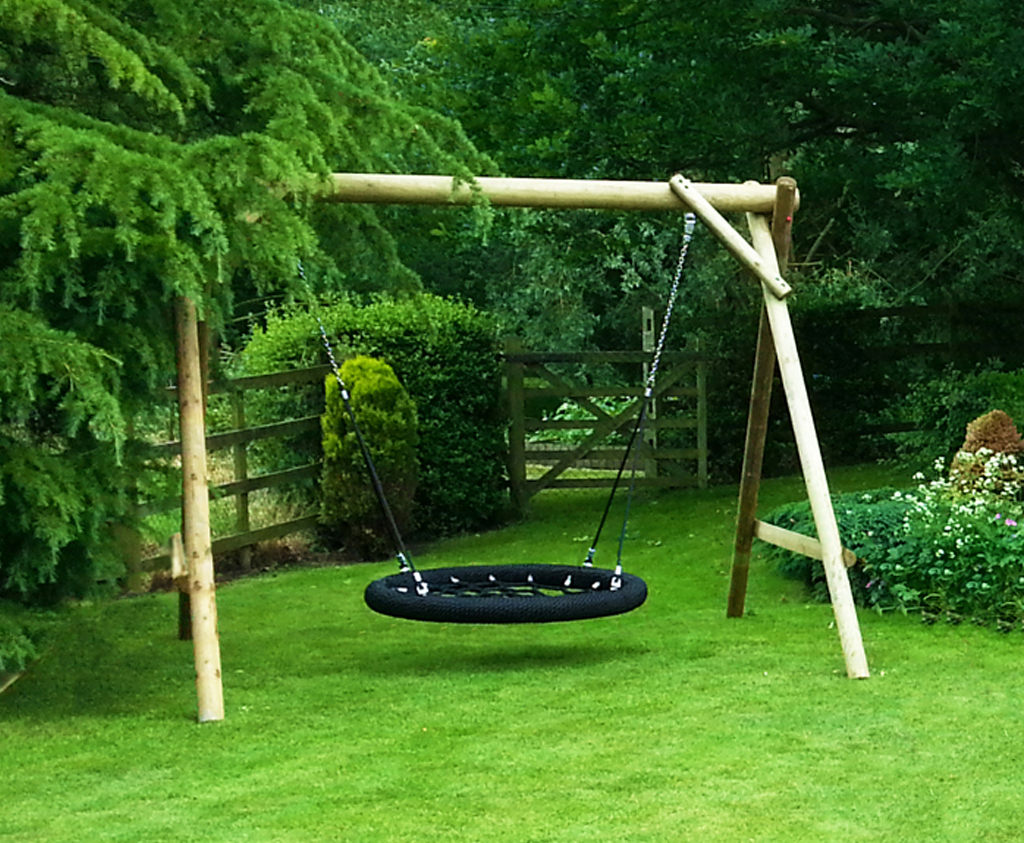 Play Mats For Cars And Trains >> Family Basket Swing | Wooden garden play equipment Caledonia Play