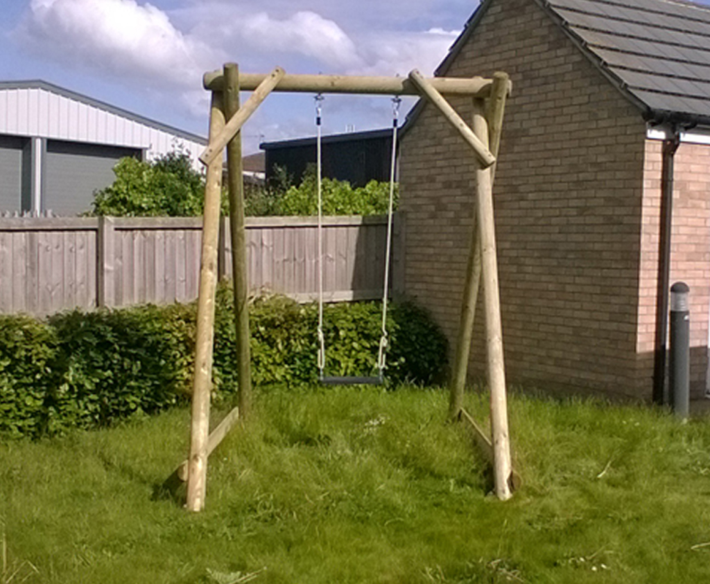 Single Swing Frame | Wooden garden play equipment from Caledonia Play
