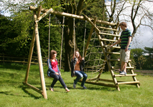 Swings with Climbing Frames