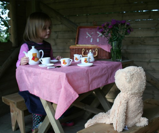 Child's Table and Bench Set