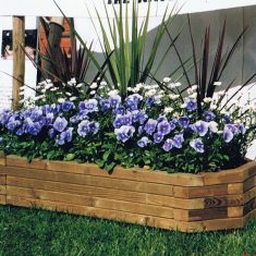 Long Wooden Hexagonal Planter