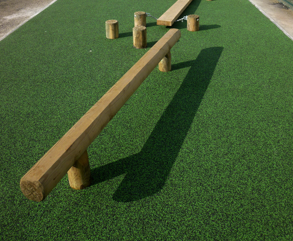 Play Mats For Cars And Trains >> Static Balance Beam for schools | Wooden Play Equipment Caledonia Play