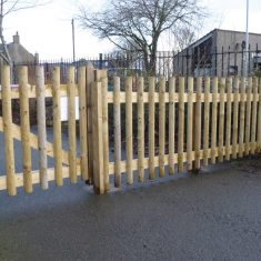 Half Round Palisade Fence for schools and nurseries Half Round Palisade Fence for commercial use