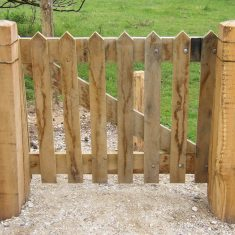 Timber gate for schools