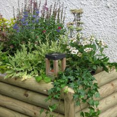 MagPost in planter