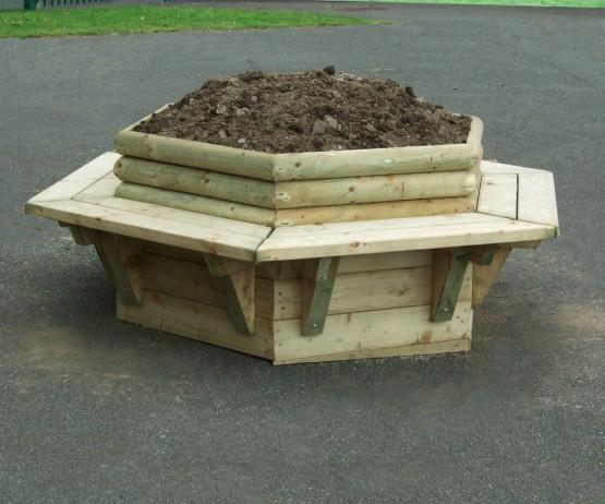 Hexagonal Planter Seating for schools Hexagonal Planter Seating for commercial use