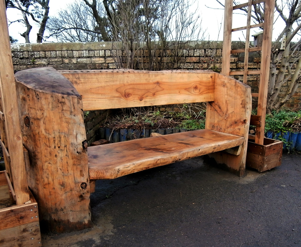 Rustic Log Bench For School Playgrounds Caledonia Play Scotland Uk