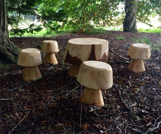 Mushroom Stools and Table Set for schools