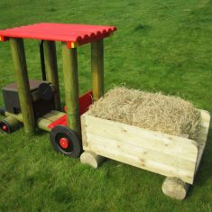 Tractor trailer for the school playground
