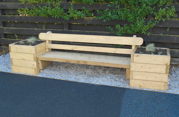 Bench and Planter Combination