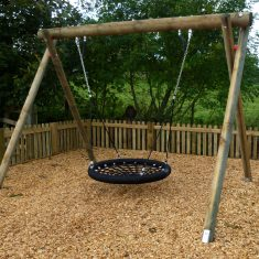 Wooden Basket Swing