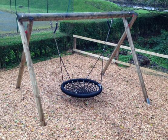 Wooden Basket Swing