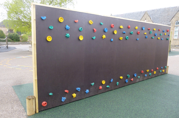 vertical climbing wall