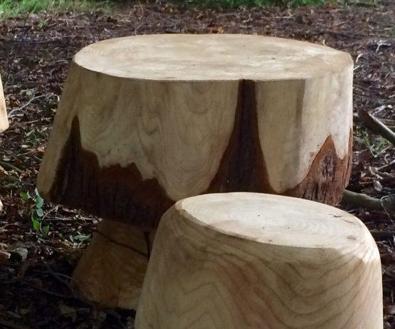 mushroom table detail