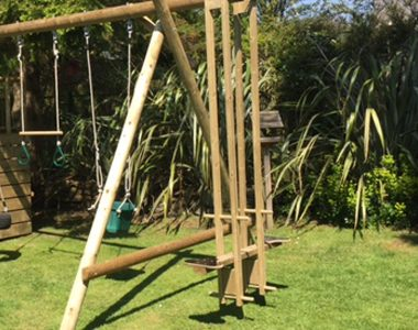Garden Play Fort Case Study Push Me Pull You on swing extension