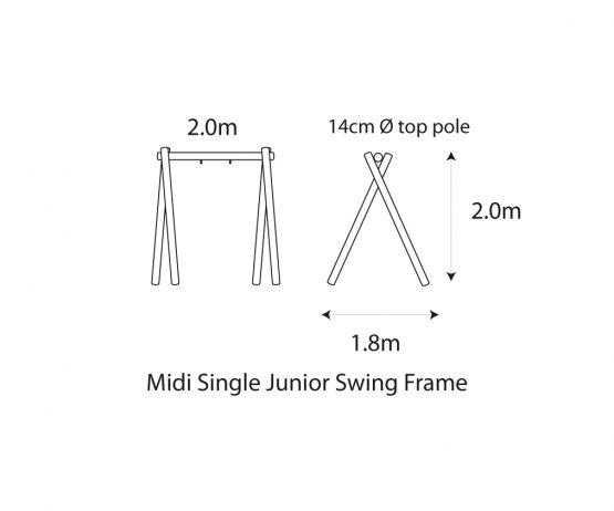 Midi Single Junior Swing Frame Commercial play MIDI single junior product listing image