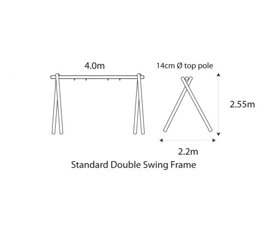 Standard Double Swing Frame COM Standard Double Swing with Flat Seats