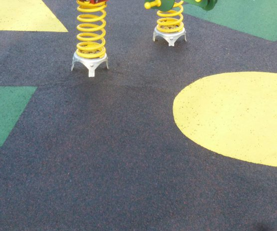 Wet Pour - bonded rubber for playgrounds