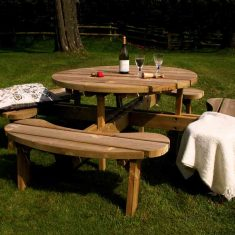 Circular Picnic Table for the garden