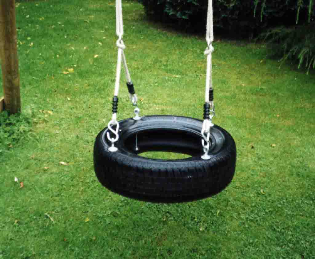 The Horizontal Tyre Swing Seats For Wooden Garden Play