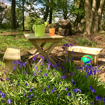Gallery garden play child's table and bench set