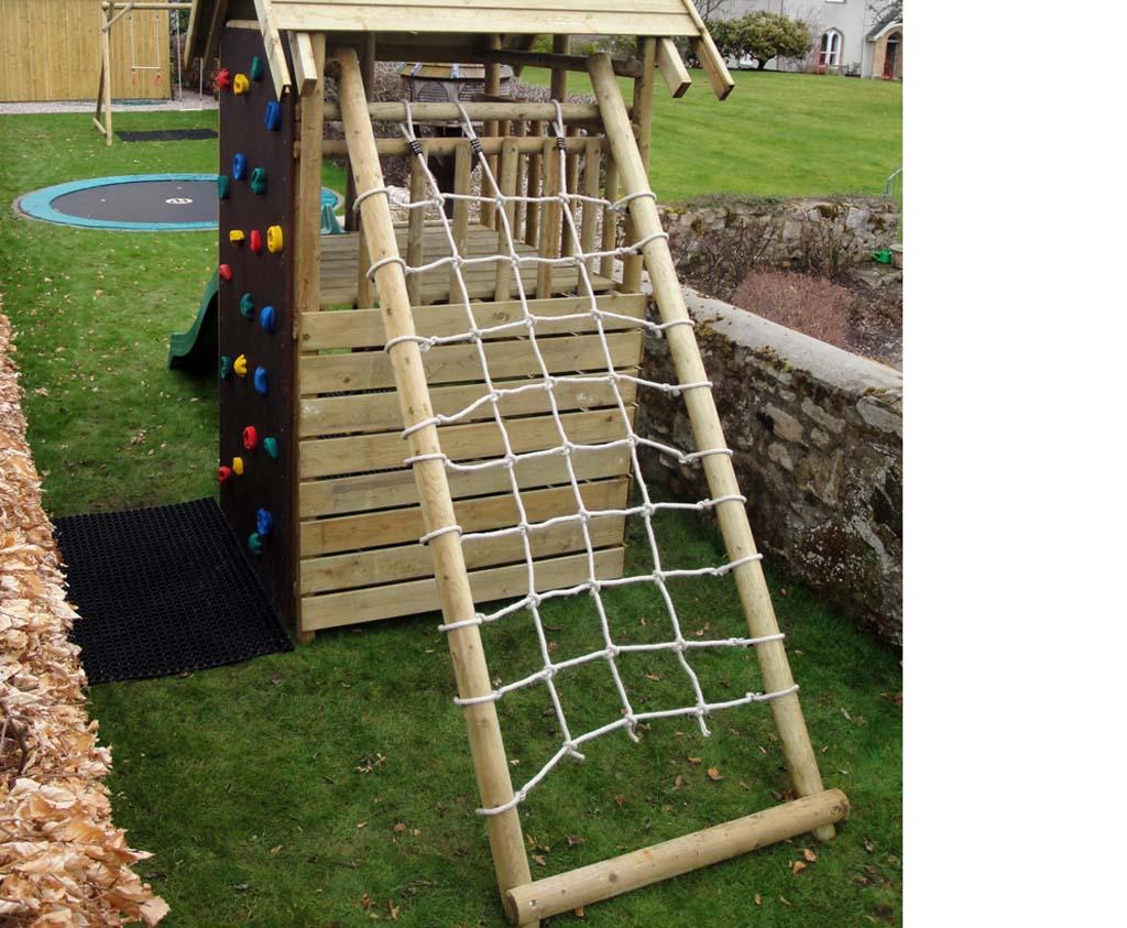 Cargo Net Frame   quality wooden play equipment for the garden