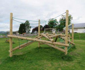 commercial play log maze climber 3