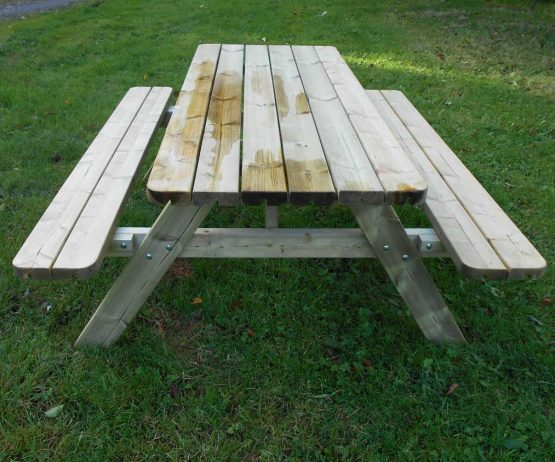 Rectangular Picnic Table for gardensDOM EDU COM Rectangular picnic table product listing image