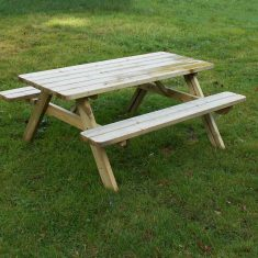 DOM EDU COM  Rectangular Picnic Table for gardens Rectangular picnic table product listing image