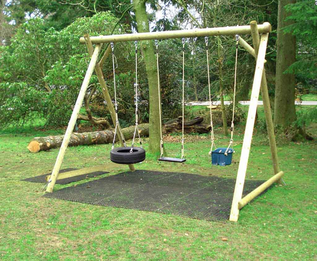 Triple Swing Frame | Wooden garden products from Caledonia ...
