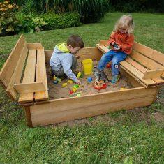 Wooden Tidy Sandpit garden play sandpit