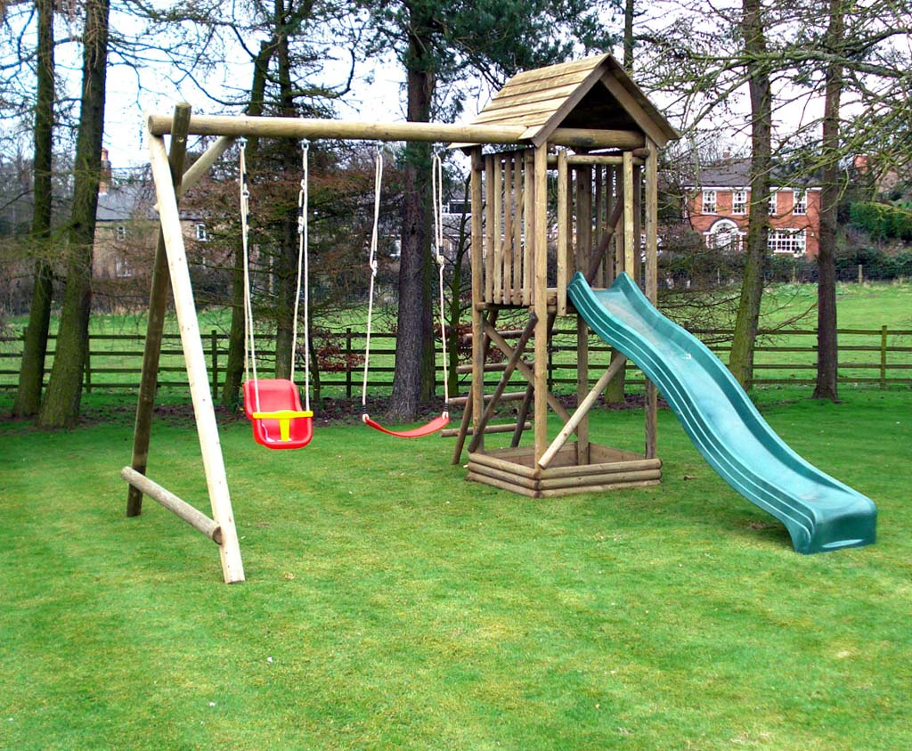 Wooden Multi Play Centre Garden Caledonia Play