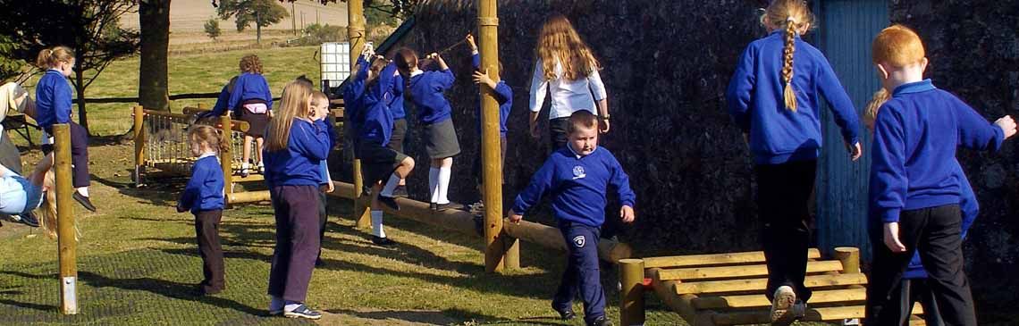 Children on school agility trail EDU landing banner image Educational Play