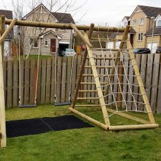 Double Swing Frame with Net Frame garden play product listing image
