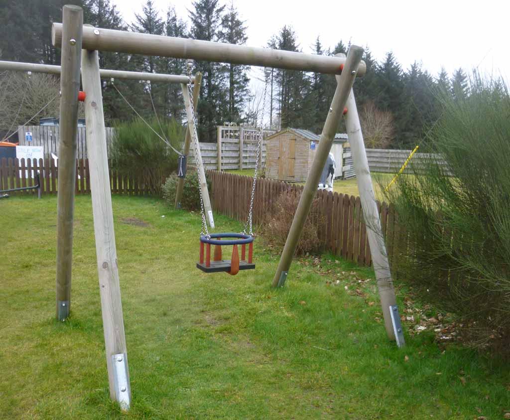 Midi Single Junior Swing Frame Wooden Outdoor Play Equipment Uk