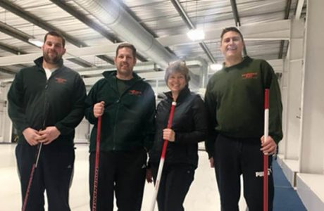Third prize for our curling team news banner image