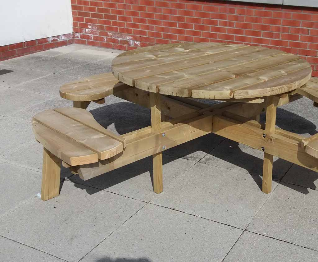 Wheelchair Accessible Picnic Table For Schools Wooden Play Equipment - Wheelchair picnic table