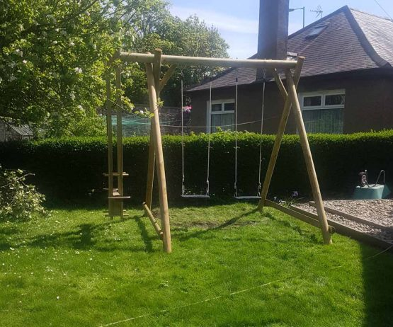 Double Swing Frame with Extension garden play product listing gallery image DFX