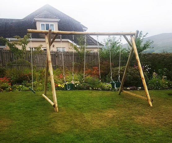 Triple Swing Frame with Extension Garden Play Swing Frames product listing gallery image TFX