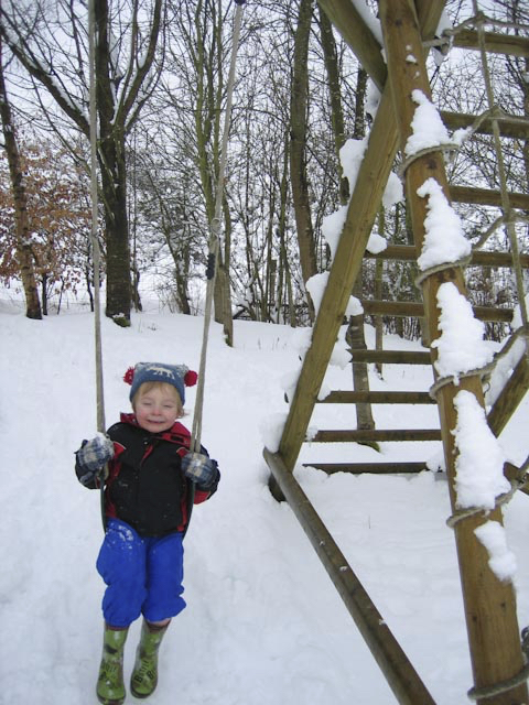 lad in snow extra image for winter outdoor play garden play