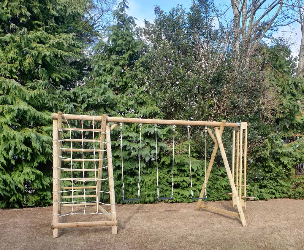 Triple Swing Frame With Net Frame And Extension Wooden