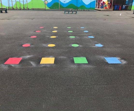 educational play safety surfacing playground markings