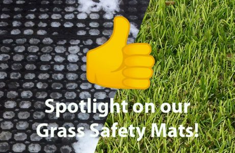 News banner image spotlight on our Multi-use grass mats