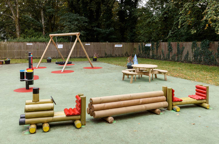 The play area complete